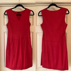 Theory red mini shift dress